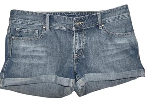 X2 Pockets Denim Cuffed Shorts Light Washed