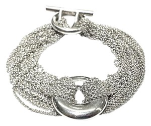 Tiffany & Co. Tiffany & Co Multi-Strand Round Toggle Sterling Silver Mesh Bracelet 7