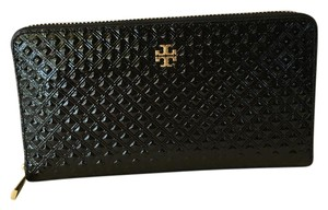Tory Burch Tory Burch Marion Embossed Patent Leather Zip Continental Wallet