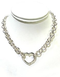 Tiffany & Co. Tiffany & Co Heart Clasp Sterling Silver Necklace 16