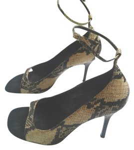 Calvin Klein Snakeskin Faux Snakeskin Brown & Tan Sandals
