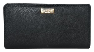 Kate Spade NWT KATE SPADE NEWBURY LANE STACY WALLET CLUTCH BAG BLACK LEATHER