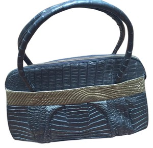 Nancy Gonzalez Crocodile Tote in Bronze and Gold