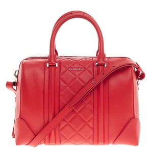 Givenchy Leather Satchel in Bright red orange