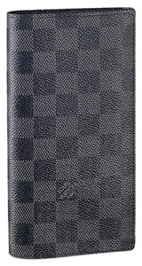 Louis Vuitton France Damier Graphite Brazza Long Wallet Coin purse