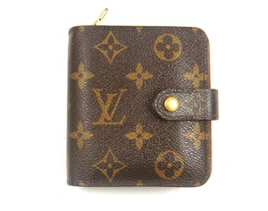 Louis Vuitton Zippy Zip Snap Monogram Canvas Leather Compact Wallet w/ Tags
