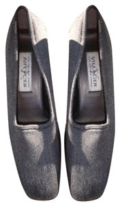 Villager Heather Fabric Upper Gray Mules