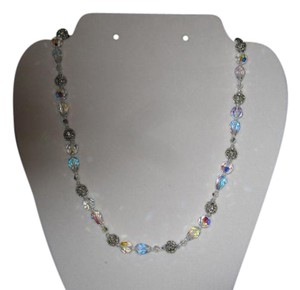 Giavan Giavan Crystal Necklace with silver rondelles (N8)