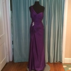 Moonlight Bridal Plum Dress