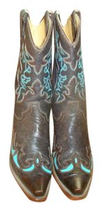 Corral Brown/Teal Boots