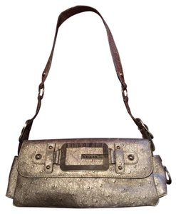 Guess Faux Leather Ostrich Shoulder Bag