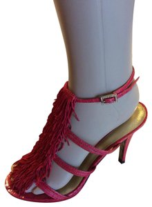 Betsey Johnson Platform Heels Ankle Strap Red Formal