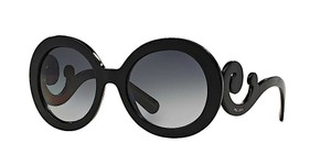 Prada PRADA Baroque Sunglasses 55mm Oversized Round