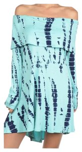 Other short dress Mint Tye Dye; Gray Tye Dye Off Long Sleeve Oversized Tunic on Tradesy