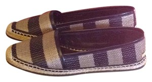 Burberry Leather Espadrille Black and Honey Flats