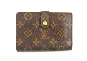 Louis Vuitton Monogram Canvas Leather French Clutch Snap Wallet w/ Tags