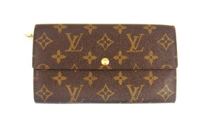 Louis Vuitton Monogram Canvas Leather Sarah Clutch Wallet France w/ Dustbag