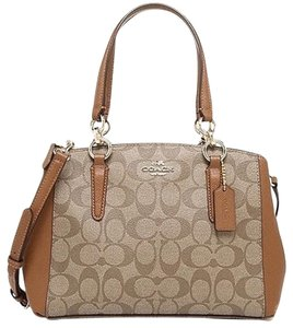 Coach Carryall Canvas F36718 Satchel in Saddle