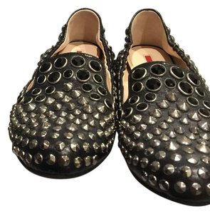 Prada Black with studs Flats