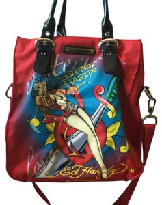 Ed Hardy Satchel in Red