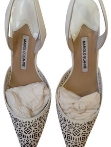 Manolo Blahnik White Formal