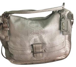 Coach Madison Kristin Sage Satchel in Silver