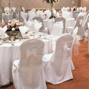 White Banquet Polyester Chair Covers
