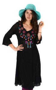 The Treasured Hippie Long Floral Kurta Tunic