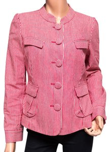 Tocca Red White Festive Holiday Patriotic Multi-color Jacket