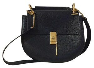 Chloé Chloe Drew Cross Body Leather Satchel in Black