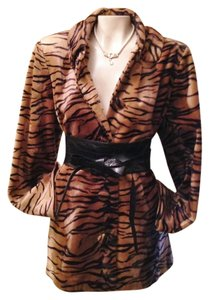 Chivalry Faux Fur Tiger Swing Vintage Jacket Coat