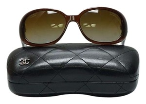 Chanel Chanel Oval Round Sunglasses Camellia Flower Brown