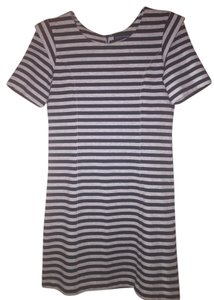 French Connection short dress Grey/black stripe on Tradesy