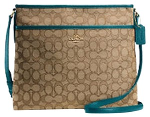 Coach F55363 Khaki/Atlantic Messenger Bag