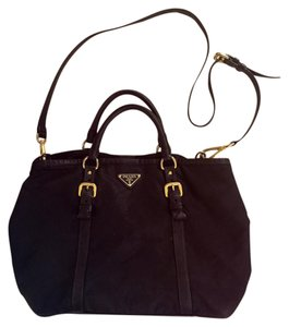 Prada Satchel in Black, Gold