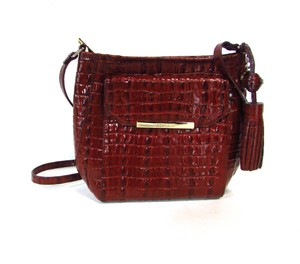 Brahmin Melbourne Embossed Leather Cross Body Bag