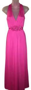 Pink Maxi Dress by New York & Company Sleeveless Maxi Long