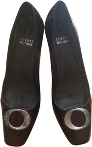 Stuart Weitzman Patent Leather Deep Ruby Red Pumps