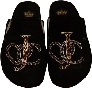 Juicy Couture Black Mules