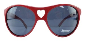 Moschino New MO50004 Red Plastic Full-Frame Gray Lens 63mm Italy