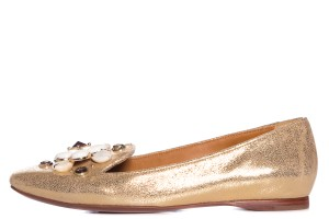 Tory Burch metallic gold Flats
