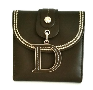 Dior Christian Dior Brown D charm Trifold Wallet