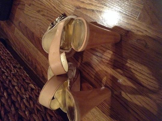 Coach Beige gold Sandals