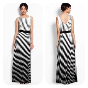 Black, White Maxi Dress by Ann Taylor