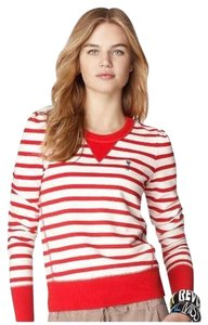 Juicy Couture Red White Pullover Stripe Sweater