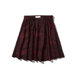 Abercrombie & Fitch Mini Skirt Burgundy Patter