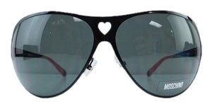 Moschino New MO51203 Black Red Metal Full-Frame Gray Lens 69mm Italy