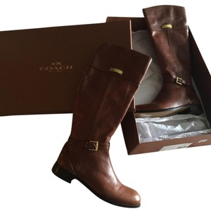 Coach Chestnut Boots