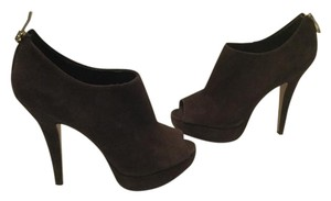 Vince Camuto Lining Brown suede leather peep toe platform ankle Boots