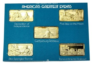 Silver Collectibles America's Greatest Events 1 Troy Oz each .999 Fine Silver Pieces.